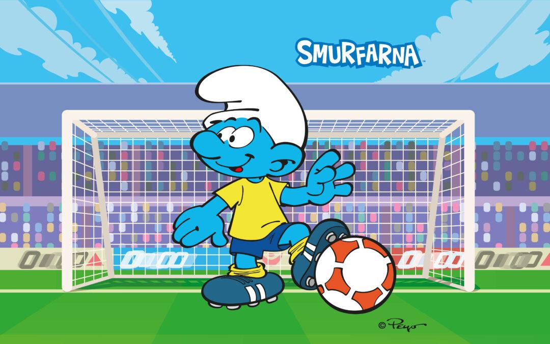 Fotbolls-EM 2021 med Smurfarna!
